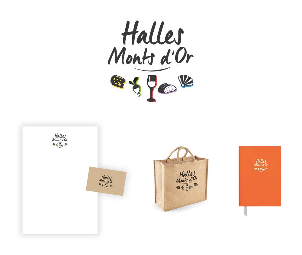 Création logo illustré halles
