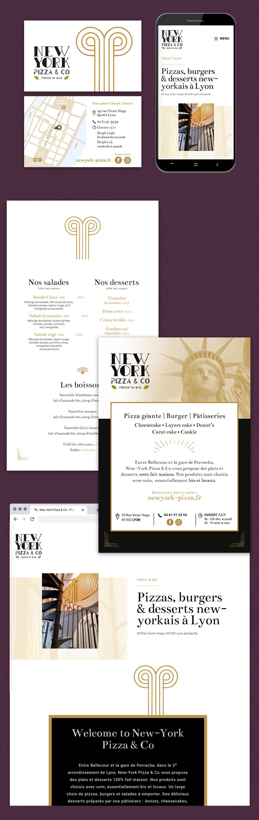 Identité visuelle, logo et charte graphique - restaurant bio à Lyon