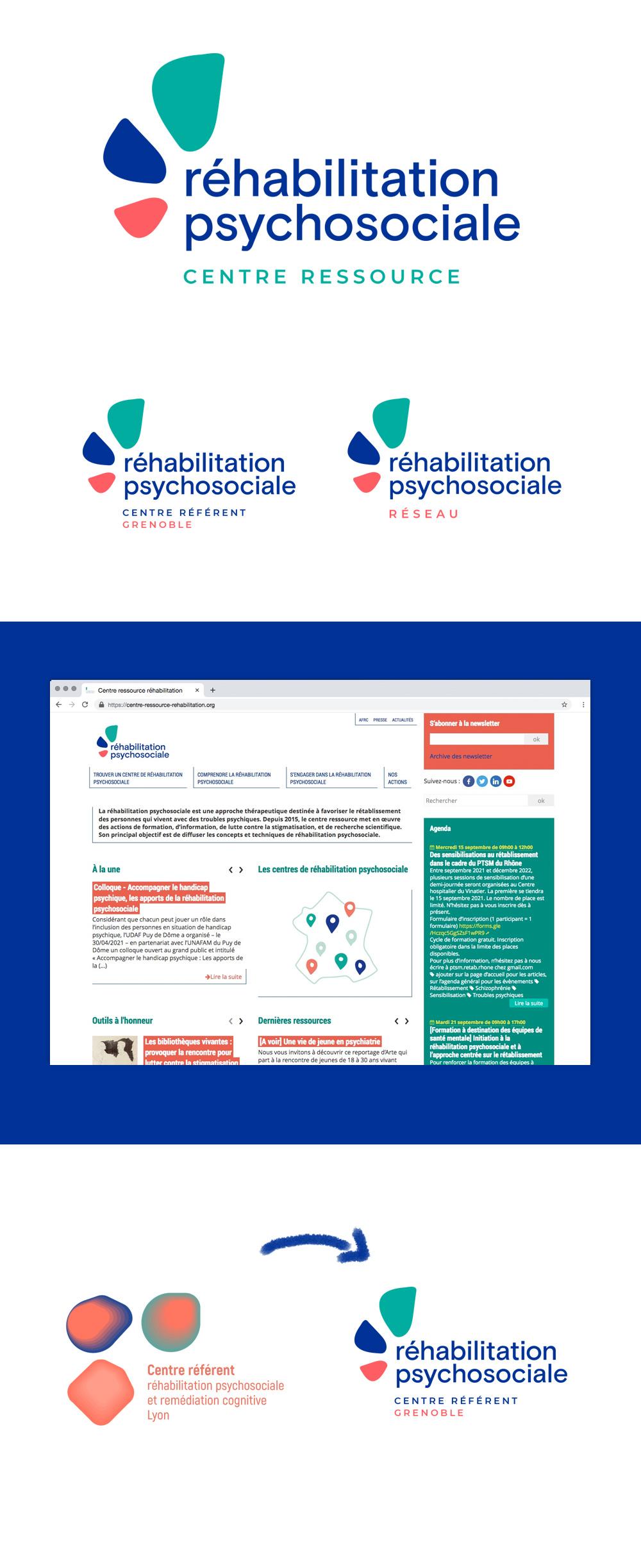 Création du nouveau logo du centre ressource de réhabilitation psychosociale
