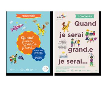 Création des affiches et flyers illustrés 2016 - 2018
