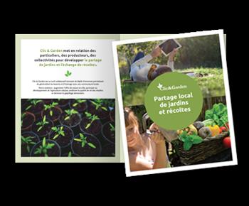 création d'une plaquette de présentation institutionnelle pour Clic & Garden