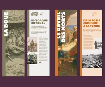 Création graphique de kakémonos, Musée départemental