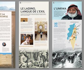 création graphique de panneaux exposition culturelle