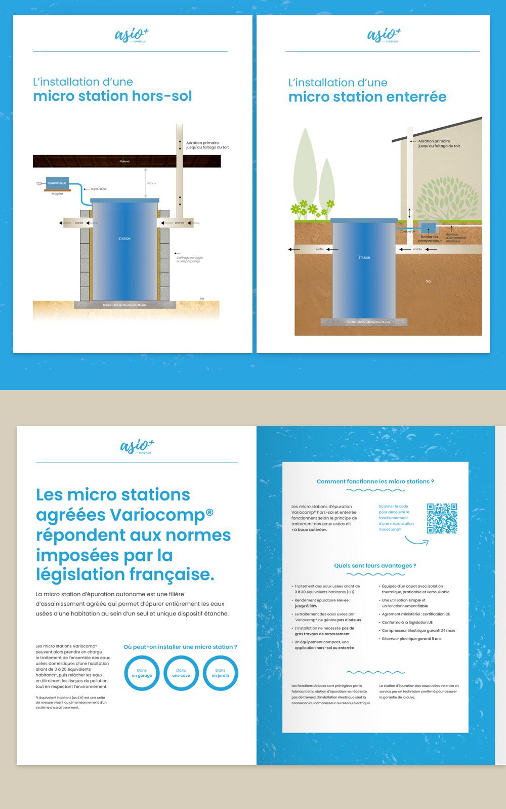 création infographies schémas plaquette commerciale