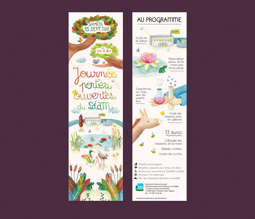 Graphiste illustrateur creation marque-page