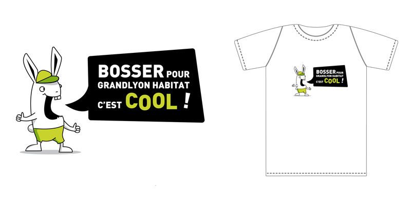 personnage lapin pour tee shirt