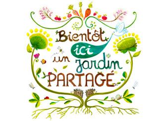 illustration affiche jardin