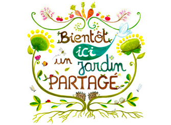illustration affiche jardin