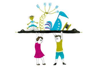 illustration pour enfant recyclage