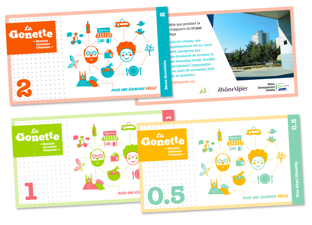 Graphisme et illustration coupon Gonette