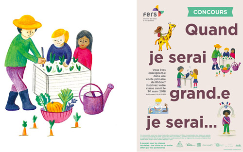 creation d'affiche et flyer illustrés'