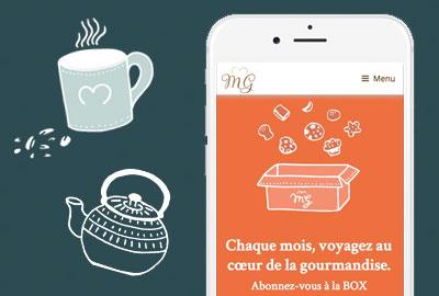 creation logo et site web biscuits maison