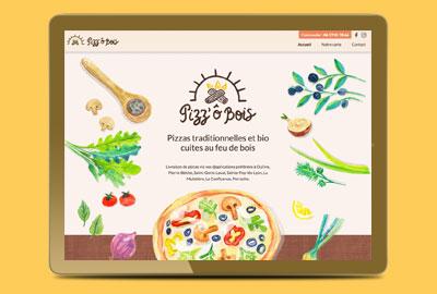 graphiste webdesigner pour la création d'un site internet pour une pizzeria