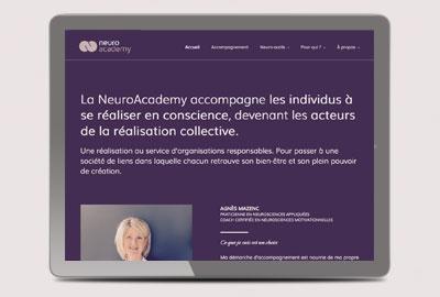 Création du site internet professionnel d'une coach en neurosciences à Lyon