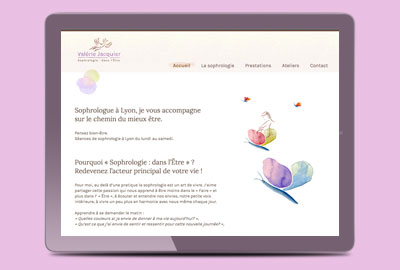 creation site Internet wordpress pour une sophrologue
