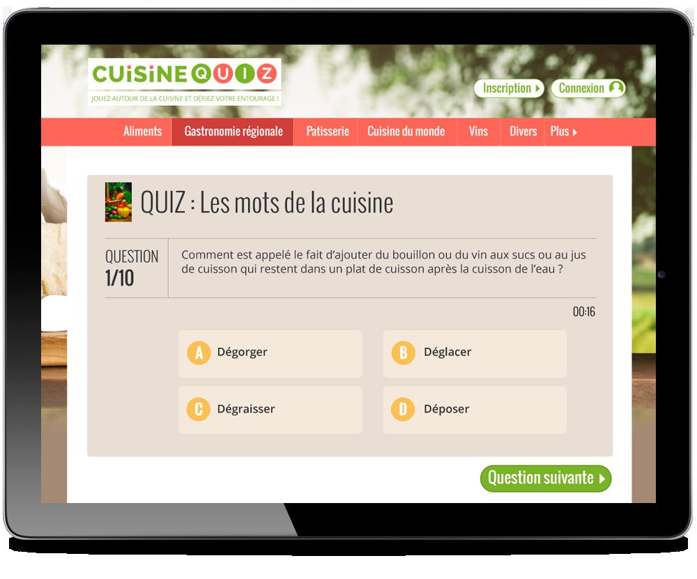 page interne cuisine quiz