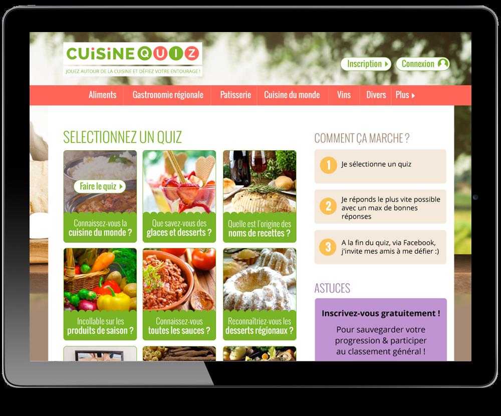Webdesigner pour le site cuisine quiz for Site cuisine