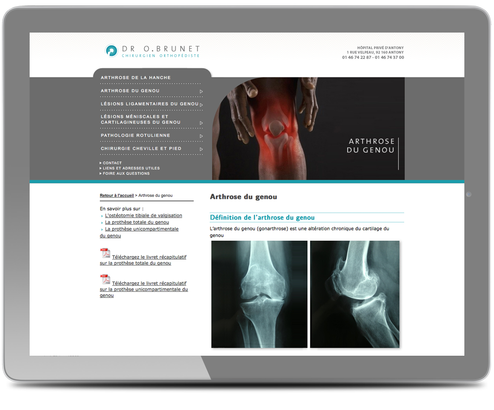 design site medical page interne
