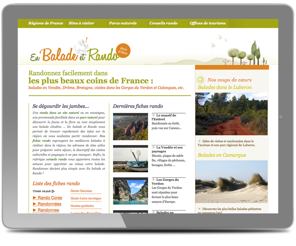 design web site balade