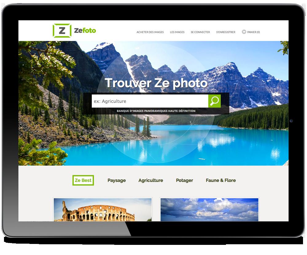 page accueil du site zefoto.net
