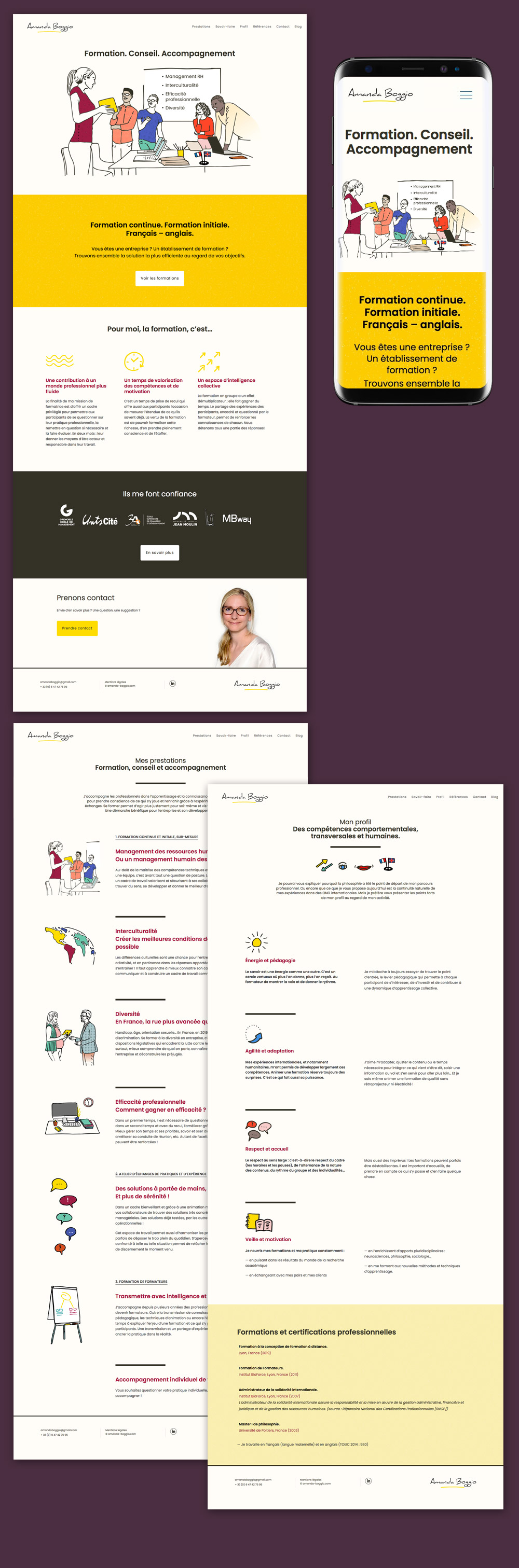 webdesigner illustrateur site vitrine lyon